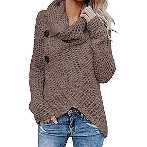 iHENGH Vorweihnachtliche Karnevalsaktion Damen Herbst Winter Übergangs Warm Bequem Slim Mantel Lässig Stilvoll Frauen Langarm Solid Sweatshirt Pullover Tops Bluse Shirt