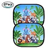 astarye Tendine Parasole Auto Bambini Lato Finestra Parabrezza Auto Finestrini Laterali Protezione Solare Raggi UV Universale Parasole Accessori Tetto per Bambini Adulti 44x36 cm 2 Pezzi Nere