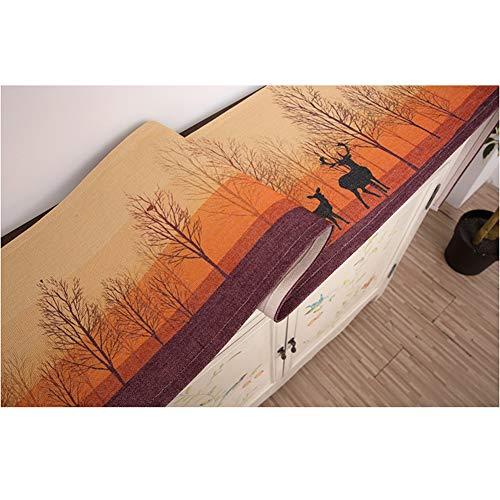 MMD Tischläufer-einfaches und modernes neues Speisetische-Landhaus drucken (Color : Orange, Size : 30 * 120cm)
