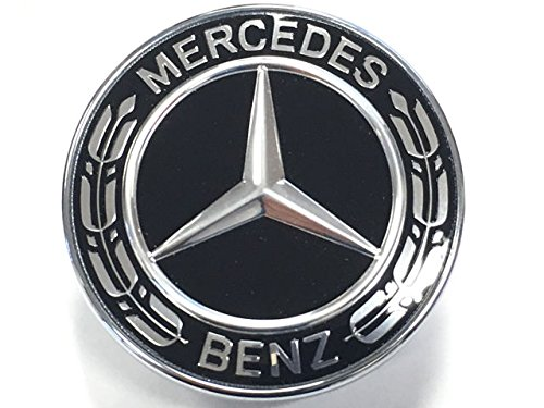Cks Benz Haube Abzeichen Motorhauben Flach Motorhaube Emblem Stern Schwarz Kranz ABD2-BK-176-1