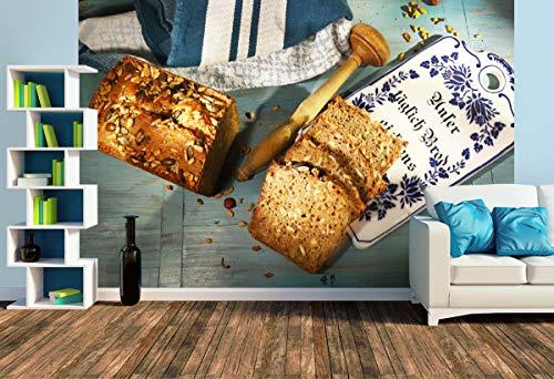 Premium Foto-Tapete olaolafood.blog/2019/04/03/kunos-koernerbrot/ (versch. Größen) (Size L | 372 x 248 cm) Design-Tapete, Wand-Tapete, Wand-Dekoration, Photo-Tapete, Markenqualität von ERFURT