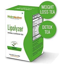 NutroActive LIPOLYZER Herbal Slimming Tea, Weight Loss Tea - 100 gm