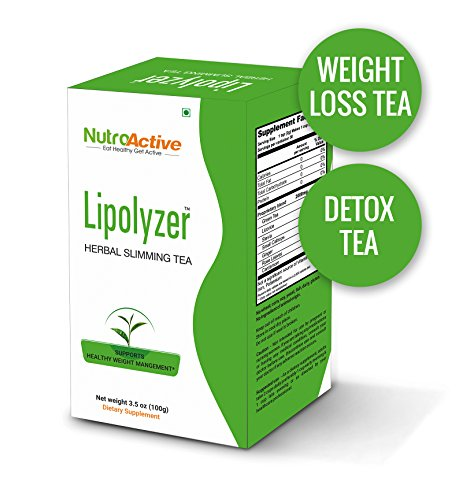 NutroActive Lipolyzer Herbal Slimming Tea 100g + 50g extra, Weight Loss Tea