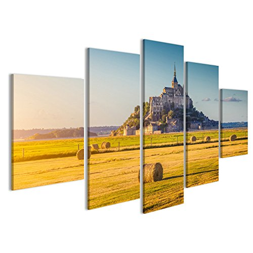 Cuadro Cuadros Hermosa vista del famoso histórico Le Mont Saint-Michel Impresión sobre lienzo - Formato Grande - Cuadros modernos DXI