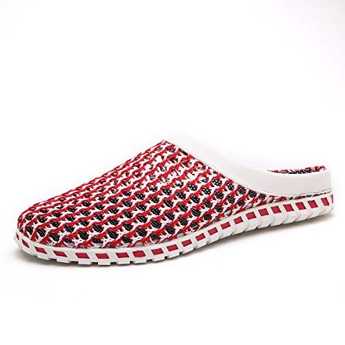 Maylen Hughes Uomo Acqua Pantofola Maglia Estate Sandalo delle Donne Scarpe a Scoppio di Spiaggia Rosso