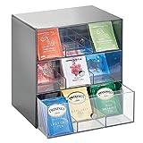 mDesign Organizador de cocina para bolsas de té, cápsulas de café,...