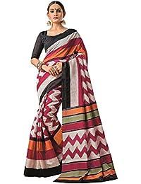 Aarti Apparels Women's Rich Designer Printed Bhagalpuri Silk Saree_UMNIA-1002