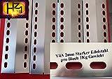 Manufaktur Stollenwerk Premium 435mm x 150mm x 2mm *V4A* Edelstahl Flammenverteiler/Flammenabdeckung / Grillblech - super Ersatzteil für Viele Verschiedene Gasgrills (V4A-435-150-1)