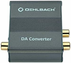 Oehlbach DA Converter (hochwertiger Digital-Analog-Wandler   Digital-Koaxial- und Digital-Optischer-Eingang) metallic braun