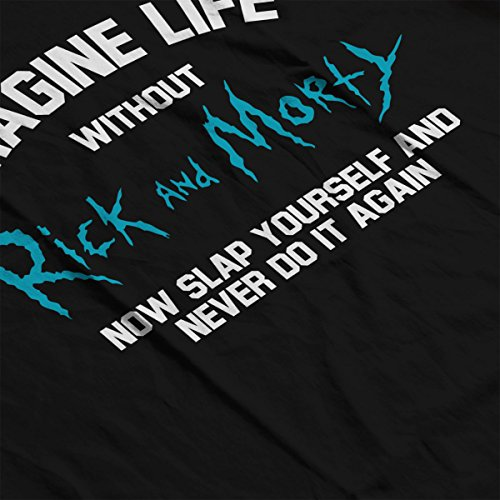 Imagine Life Without Rick And Morty Women's Sweatshirt Black