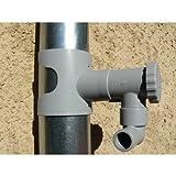 Capt'eau Récupérateur d'eau de Pluie pour conduits Circulaire (Gris)