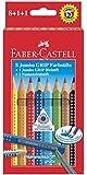 Faber Castell 280921 - Jumbo Grip Farbstifte 8er mit Bleistift und Namensfeldstift