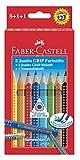 Faber-Castell 280921 Farbstift Jumbo Grip 8er mit Bleistift und Namensfeldstift