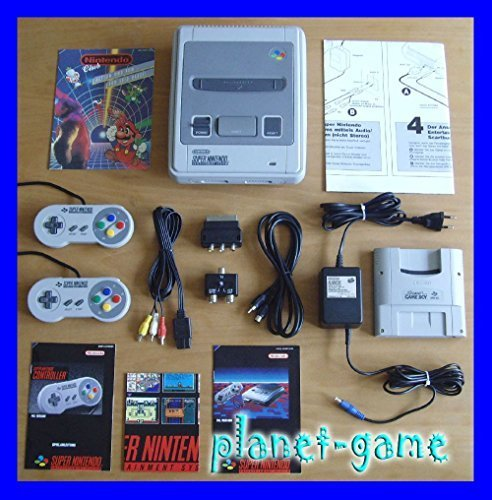 Preisvergleich Produktbild 1x Original SNES Super Nintendo Konsole / SNES Gerät - in fast NEUWERTIGEM TOP-Sammlerzustand und KOMPLETT