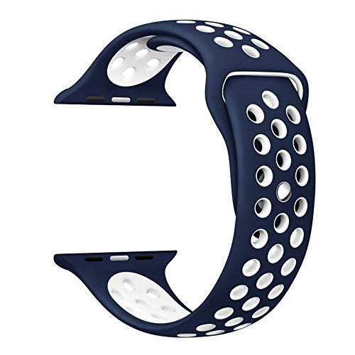 Shopizone® Replacement Sports Silicone Bracelet Strap For 42mm Apple Watch Series 1 2 & 3(Blue)