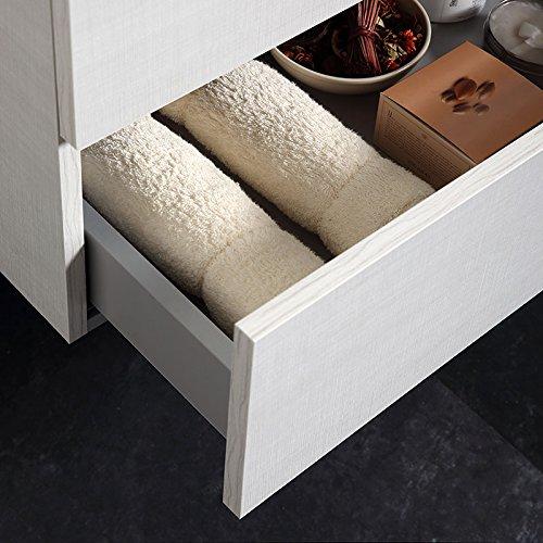 Mobile Bagno Sospeso 80 Cm Con Cassetti E Lavabo In Ceramica Berlin