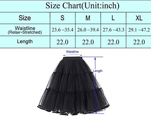 50s Retro Underskirt Unterrock Petticoat Rock Rockabilly Tutu Skirt Weiss S BP177-2 -