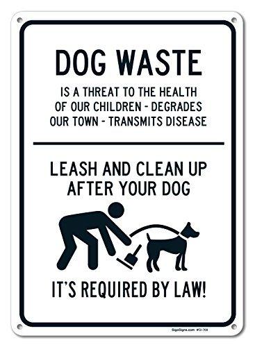 Rustic metal Sign post rifiuti cani guinzaglio e Clean Up After your Dog Sign aluminum Wall Art Plaque decorazione