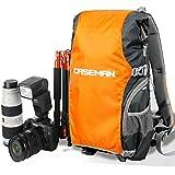 'Caseman aob4Étui Sac à dos pour appareil photo reflex DSLR imperméable randonnée Camping Sac Orange