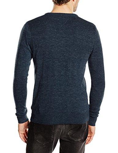 Hilfiger Denim Herren Pullover Original Cotton Blend VN Sweater LS Nero (BLACK IRIS-PT 002)