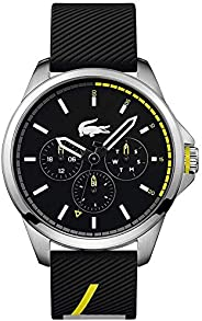 Lacoste Mens Quartz Watch, Chronograph Display and Silicone Strap 2010978