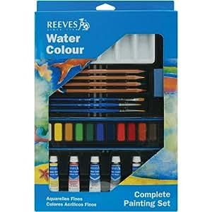 Aquarellfarben Basic Set incl. Aquarellpinsel Aquarellstifte Mischpalette etc... Geschenkset