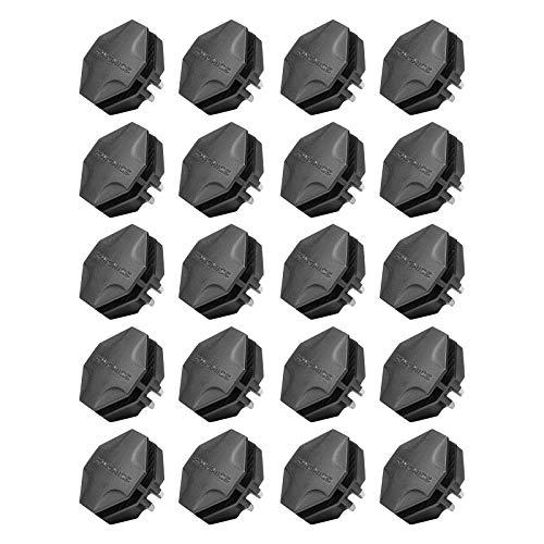 SONGMICS 20 Stück Kunststoff Verbindungsstück Square Plastikverbindungsstück für DIY Steckregalsystem Schuhegal Schrank Schwarz ALPC0B-20V1