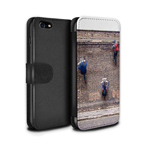 Stuff4 Coque/Etui/Housse Cuir PU Case/Cover pour Apple iPhone 8 / Pack 29pcs Design / Imaginer Collection Première Vitesse