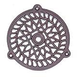Antikas - Kamin Warmluftgitter Lüftungsgitter für Kamine rund (10,5 cm)