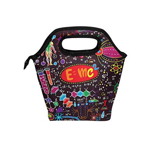 Ahomy Lunchtasche für Schule, Arbeit, für Frauen, Mädchen, Cientific Formeln und Berechnungen, isolierte Lunchbox-Tasche, tragbare Kühltasche -