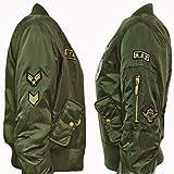 Damen Mädchen Gefechtsabzeichen Army Air Force Bomber Jacket Jacken EUR Größe 36-40 - 4