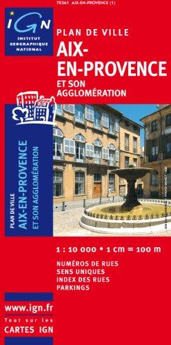 72361 Plan d'Aix-en-Provence 1/10.000 par IGN