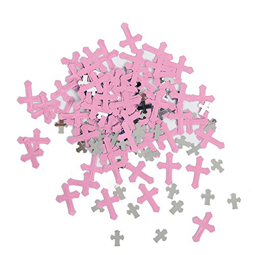 Unique Party Supplies Folie Strahlend Kreuz Pink Religiöse Konfetti