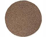 Sukhi Ashley: Rund Dunkle natürlichen Rohstoffen der Erde Farbige Teppiche Runde in Allen Größen (70cm / 2' 3.5'')
