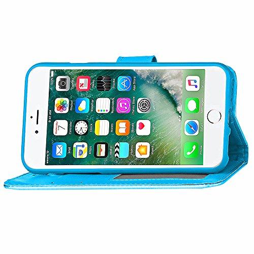 Voguecase Pour Apple iPhone 7 Plus 5,5 Coque, Étui en cuir synthétique chic avec fonction support pratique pour iPhone 7 Plus 5,5 (ZG-bleu clair)de Gratuit stylet l'écran aléatoire universelle ZG-bleu clair