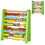 2 in 1 Large Wooden Double Sided Abacus Alphabet Number Frame Learning Toy