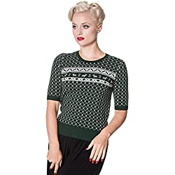 Dancing Days Paige Top Jersey chica verde/blanco XL