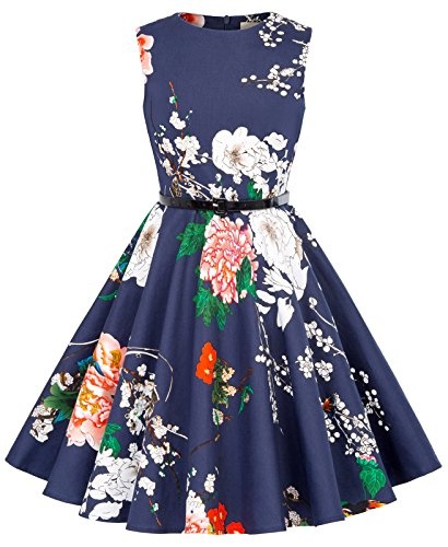 Kate Kasin Prinzessin Kinder Blumen Kleid ballkleid 10-11 Jahre KK250-24