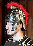 Kunststoff römischen Helm Fahnenwache Soldat Erwachsene Centurion Eisen