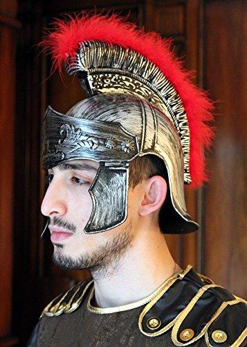 Kunststoff römischen Helm Fahnenwache Soldat Erwachsene Centurion Eisen (Römischer Soldaten Helm)