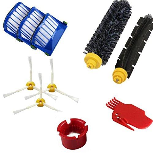 Malloom® Accessoire pour Irobot Roomba 600 610 620 Série 650 Kit de pièces de rechange pour aspirateur (Taille unique, multicolore)