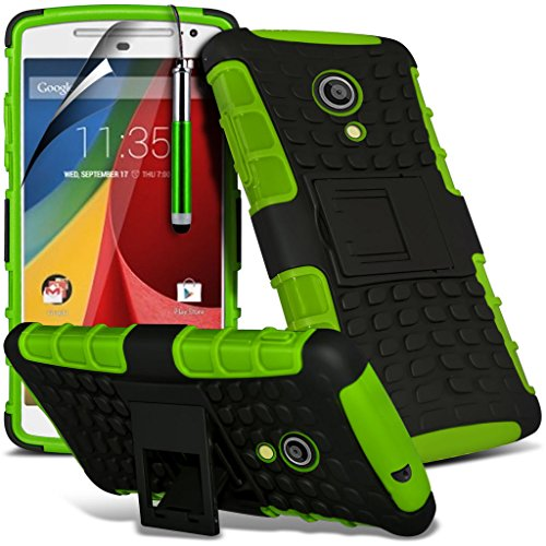 (Grün) <b> Motorola Moto G 3rd Gen/ Motorola Moto G 3rd Generation 2015 hülle Schutzhülle Kasten </ b> Hohe Qualität Tough Durable Survivor Fest Rugged Shock Proof Heavy Duty-hülle Schutzhülle Fall mit Standplatz Zurück Skin Tasche Hülle & Screen Protector Durch i-Tronixs