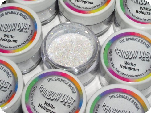 Rainbow Dust Sparkle Range Glitzer - Weißtöne, Farbton:White Hologram