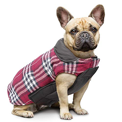 IREENUO Dog Reversible Plaid Coat Autumn Winter Warm for sale  Delivered anywhere in UK