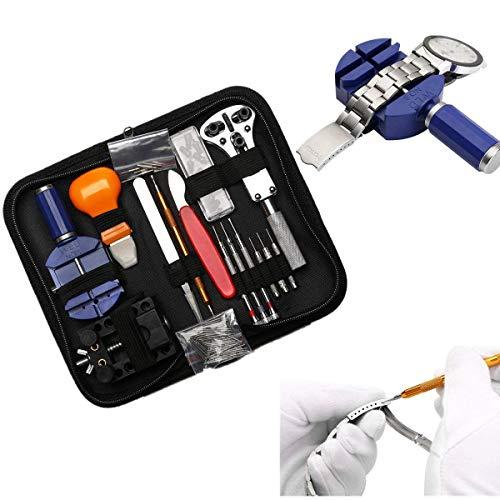 Tinpa - Set di 147 utensili per orologio, portatile Kit di Riparazione...