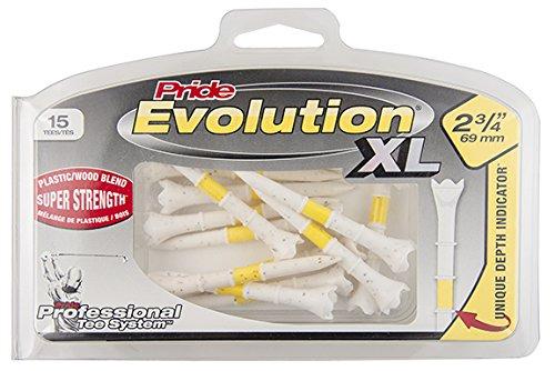 "Pride Professional Tee System EVH23415 Evolution 2-3/4"" XL 15 CT Hybrid Golf Tees"