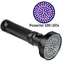 UV torcia LED Veetop,lampada super luminoso con 100 lampade rivelatore urina degli animali domestici trovare macchie su tappeti, perfetto per l'uso esterno come gli scorpioni e i minerali di caccia