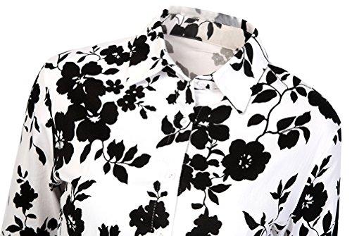 Eudolah Robe midi vintage boutonnée sur le devant avec manches courtes soirée cérémonie années 50 Femme Fleur