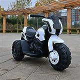Lvbeis Kinder Elektro Motorrad 6 Volt Akku Motorcycle Musik Kindermoped Kleinkinder Motocross,White