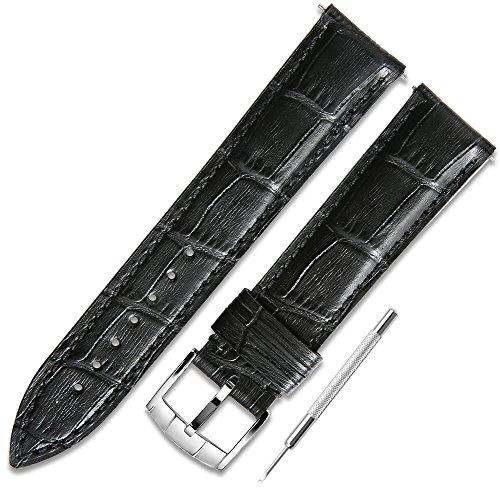CHIMAERA echtes Kalbsleder Ersatz 18mm 19mm 20mm 21mm 22mm Rindsleder Armband Armband präzise Polierverfahren Edelstahl Klassische Pin Wölbung Uhrenarmband -
